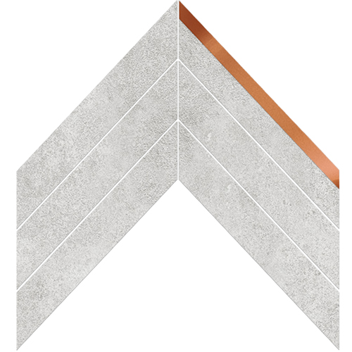 CHEVRON LONDON LIGHT NATURAL COPPER